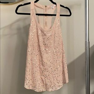 Candies pink racerback tank top size Large